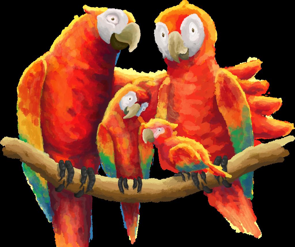 Papageienfamilie